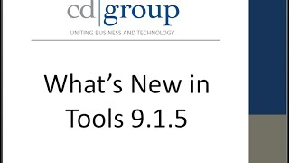 What's new in Tools 9 1 5