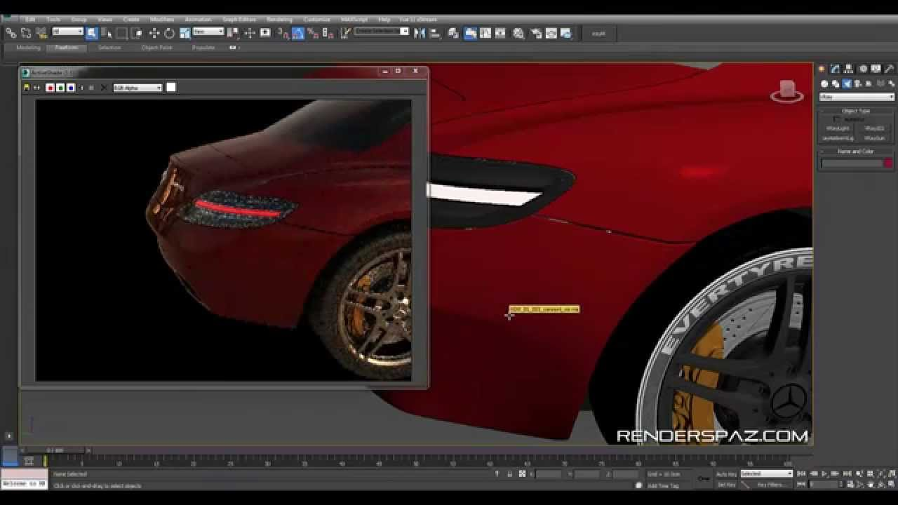 Tutorial Car Rear Tail Lights In Vray Youtube