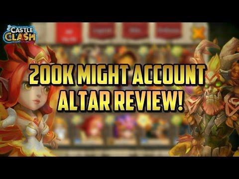 200k Might Main Account Altar Review! Castle Clash