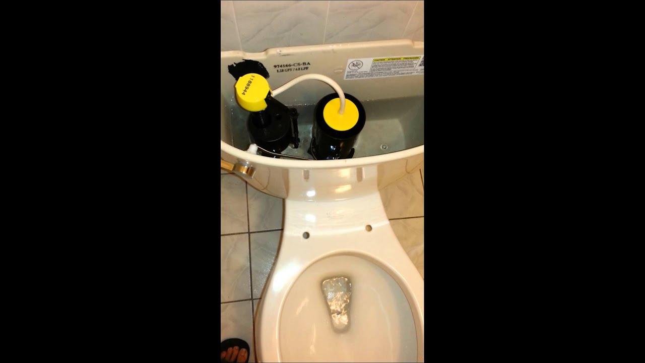 Kohler Cimarron Toilet W Aqua Piston Flush Youtube