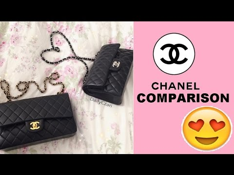 Chanel Small vs. Medium/Large Double Flap Size Comparison