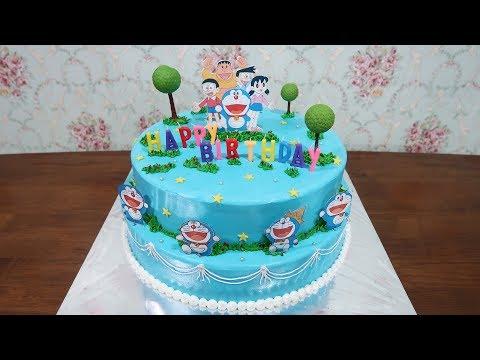 Dekorasi Kue Ultah Anak Anak Kue Ulang Tahun Doraemon Terbesar By Lenscake Kdi Youtube