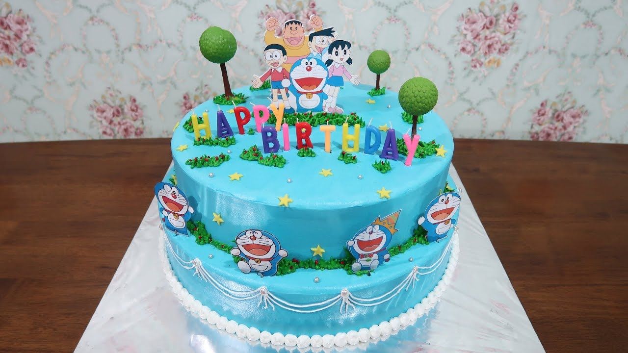 Birthday Cake Decorating For Kids Happy Birthday Cake Doraemon Biggest By Lenscake Kdi