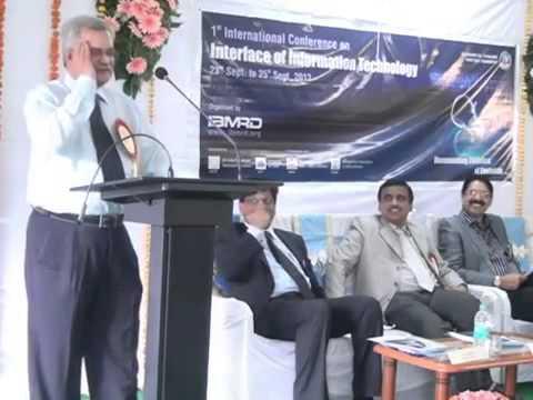 Speech by Dr S Ranganathan, Dean, GRG School of Management, Coimbatore