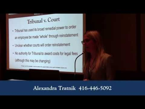 Human Rights Damages in Wrongful Dismissal Cases - Alexandra Tratnik