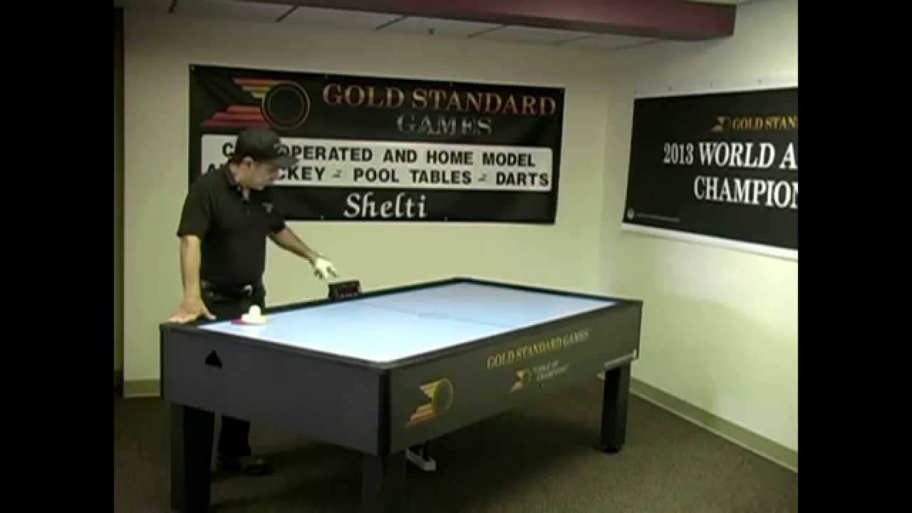 Home Pro Elite Air Hockey Table By Gold Standard Games   YouTube