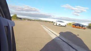 Bikecam: Drag RACE Bugatti Veyron Vitesse Vs Lambo Aventador Vs BMW S1000RR