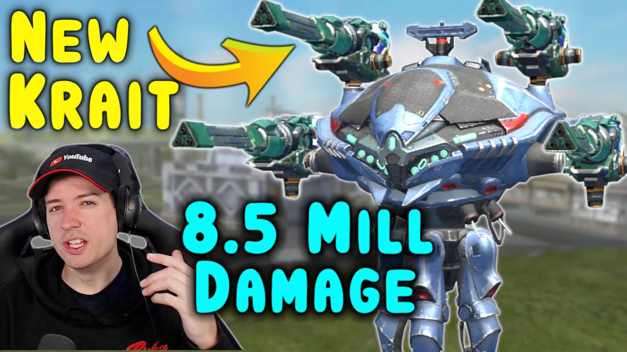 WOW! 8.5 Mill Damage KRAIT NODENS New 7.0 Gameplay War Robots WR
