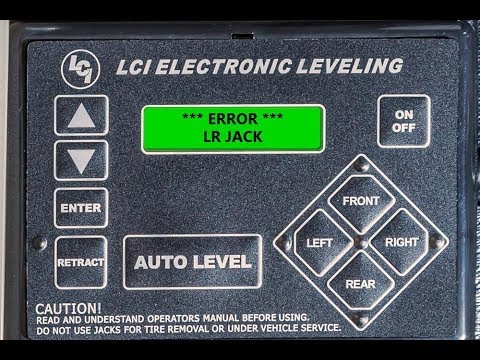 correcting a lippert leveling system jack error youtube