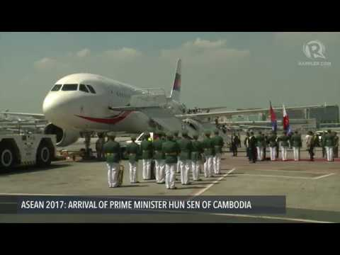 ASEAN 2017: Arrival of Hun Sen, Prime Minister of Cambodia