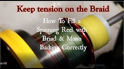 How To Fill a Spinning Reel with BRAID using a Mono Backing the EASY Way!