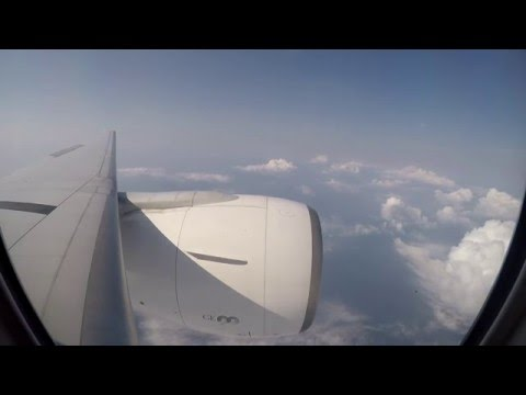 EVA Air (BR891) B777-300ER window view approach/land/taxi to gate VHHH (Hong Kong) 25R
