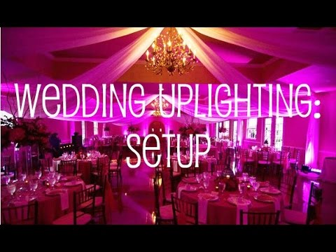 Wedding Uplighting Setup In Banquet