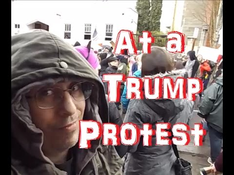 At a Trump Protest - Eugene, OR, 01 21 2017