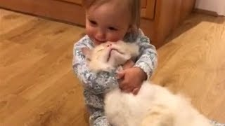 Sweet Moments Between Babies and Cats 😽👶 Top Cats Video Compilation