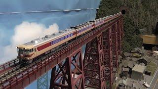 【鉄道模型】旧余部橋梁を走る車両たち