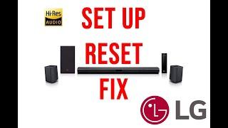 LG 4.1 Channel 420W Sound bar surround system (setup/fix/reset)