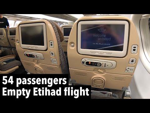 EMPTY ETIHAD flight | EY833 Hong Kong to Abu Dhabi (A330 economy class)