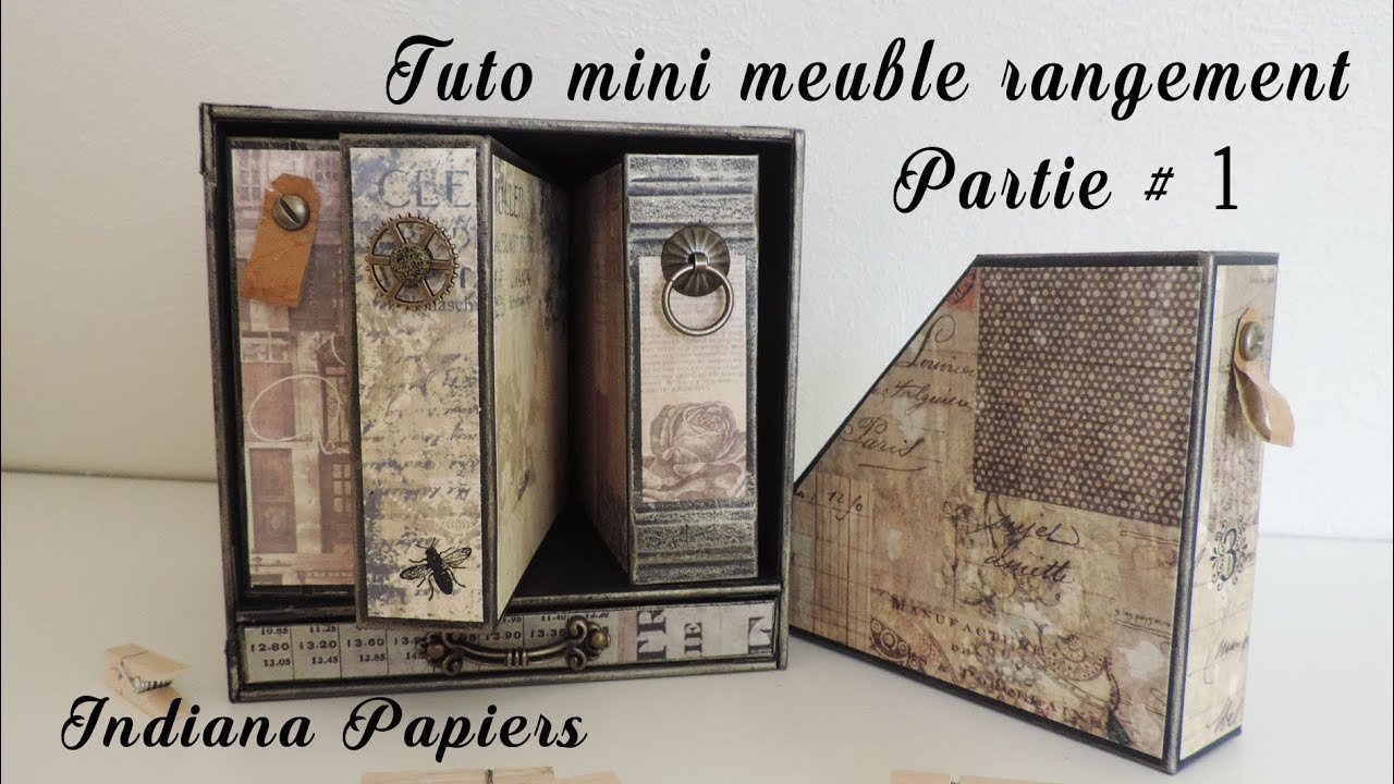 Tuto Mini Meuble 1 Range Document Youtube
