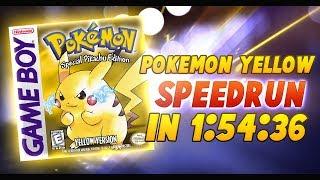 Pokemon Yellow Speedrun in 1:54:36
