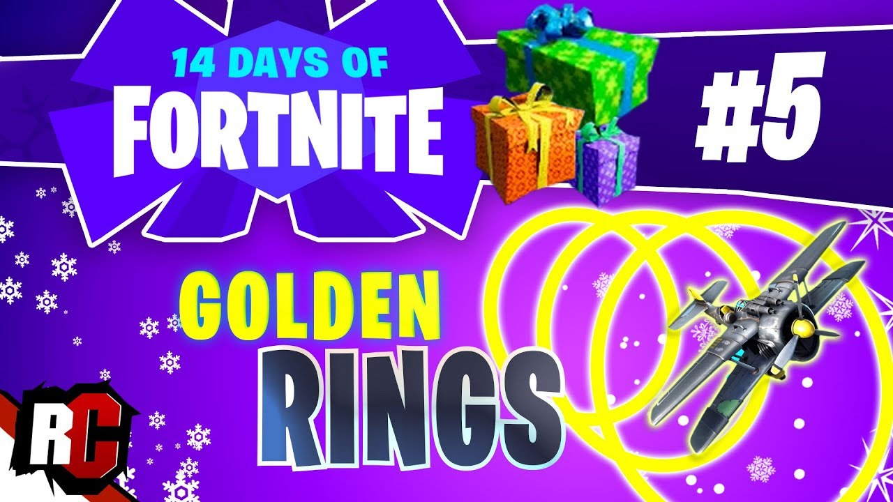 14 Days Of Fortnite Day 5 All Golden Ring Locations Floating Ring