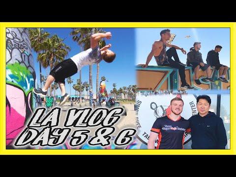 PARKOUR & FLIPS @ Venice Beach & Meeting Master Rhee | LA Vlog Day 5 & 6 | Team GNT