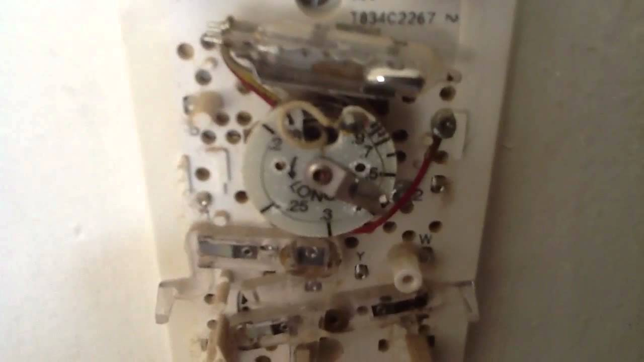 honeywell mercury thermostat - youtube honeywell mercury thermostat wiring