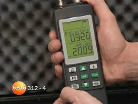 Manometri digitali per pressione differenziale testo 312-4 - Manuale parte 1