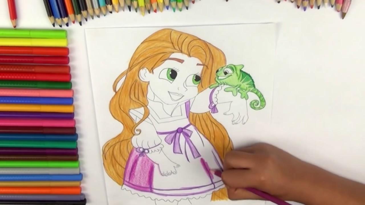 Dibujo De Princesa Disney Rapunzel Bebe Rapunzel De Disney Youtube