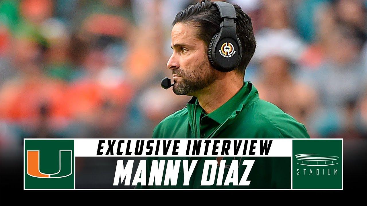 Miami Head Coach Manny Diaz Discusses His Team's 2-0 Start to the Season   Stadium