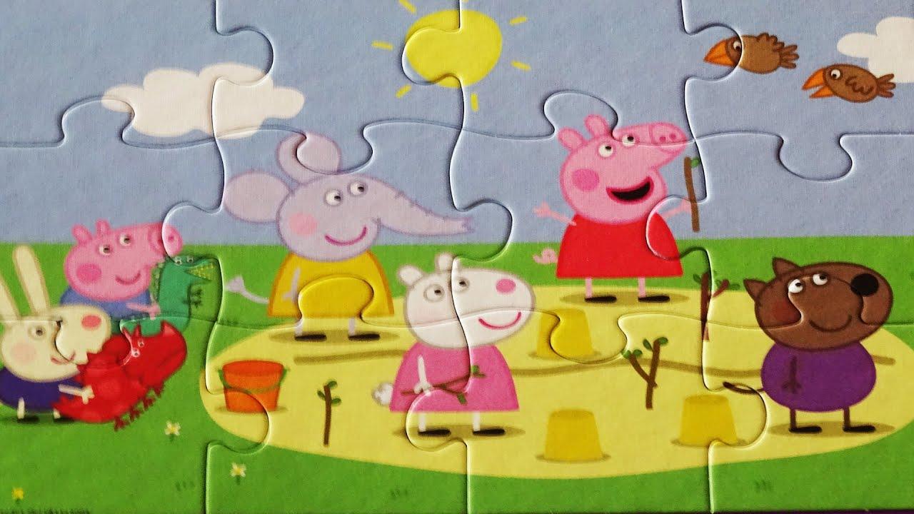 Puzzle Games PEPPA PIG Jigsaw Puzzles Rompecabezas Jumbo Play Set Kids Toys Ninos 2016