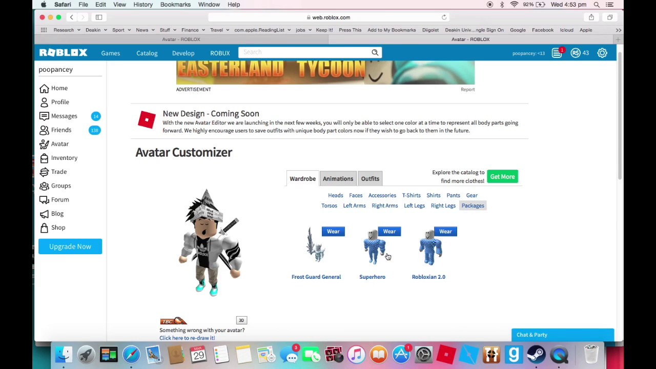 MY NEW AMAZING LOOK ON ROBLOX | FEATURING FROST GUARD GENERAL