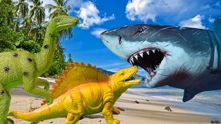 Приключения динозавров. НАПАДЕНИЕ АКУЛЫ. Мультфильмы для детей на русском языке