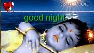 Krishna Radha good night Shayari video