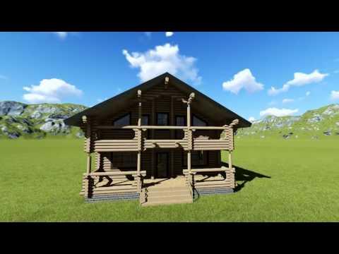 Проект деревянного дома из бревна в Туле и Москве