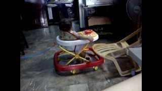 Baby Aj Inside His Modern Walker 2