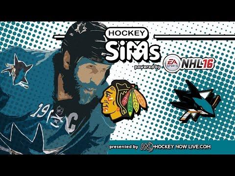 Blackhawks vs Sharks (Hockey Sims on NHL 16)