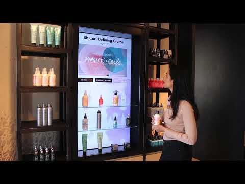 Bumble & bumble - Beauty and Cosmetics Lift and Learn Retail Digital Signage