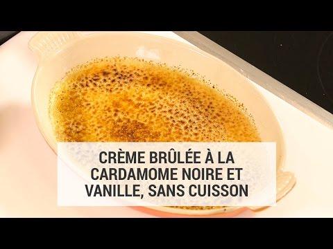 Crème brûlée à la cardamome noire et vanille, sans cuisson par Akrame Benallal