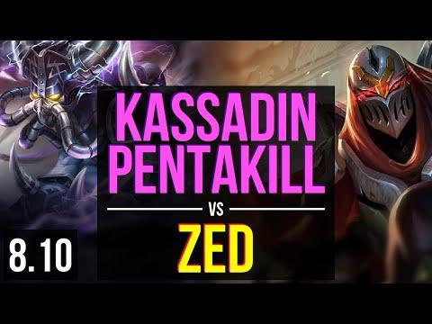 KASSADIN vs ZED (MID) ~ Pentakill, Legendary, KDA 26/4/7 ~ EUW Challenger ~ Patch 8.10