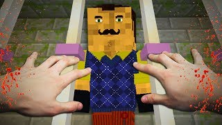 REALISTIC MINECRAFT -  HELLO NEIGHBOR KILLS ALEX AND STEVE