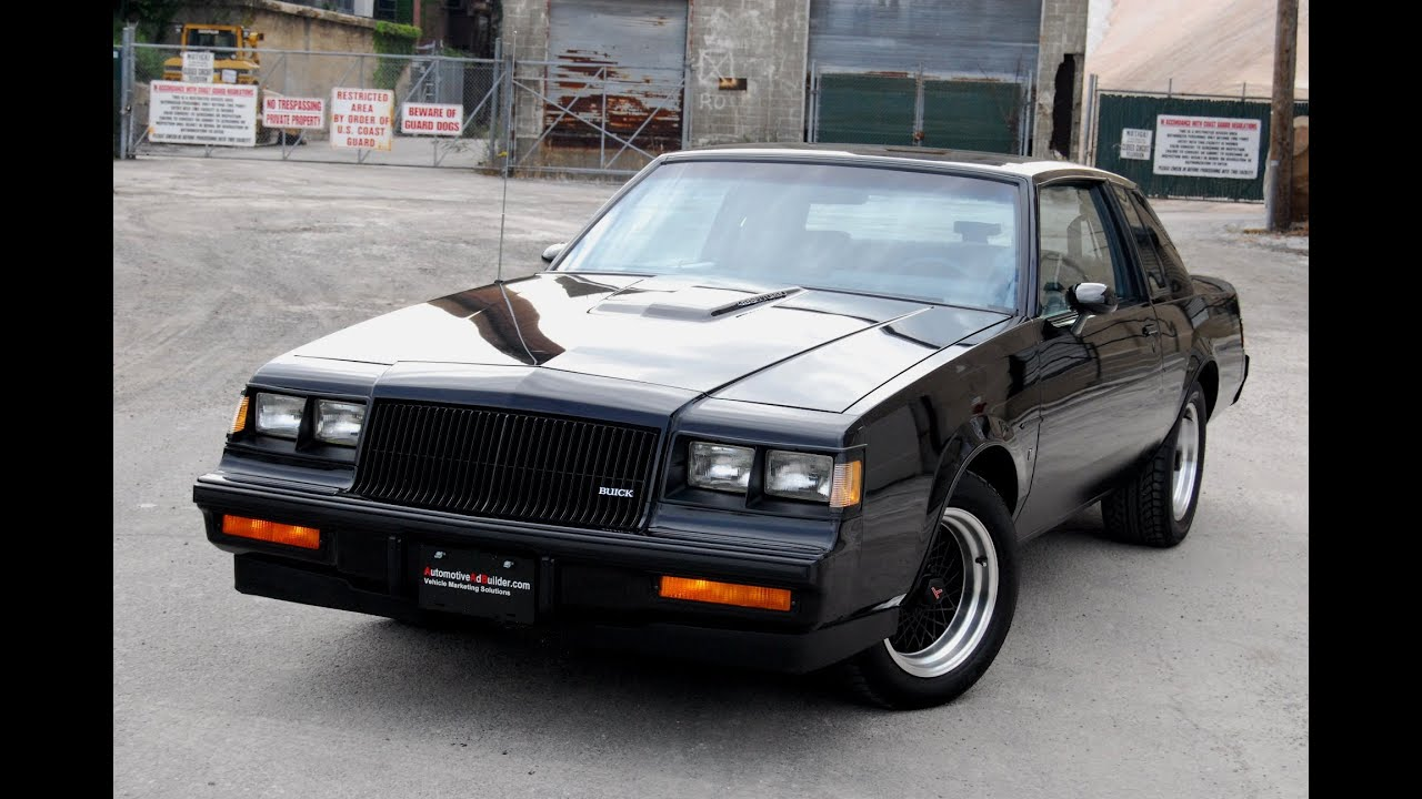1987 Buick Regal Grand National T-Type WE4 Turbo Burn Out - YouTube