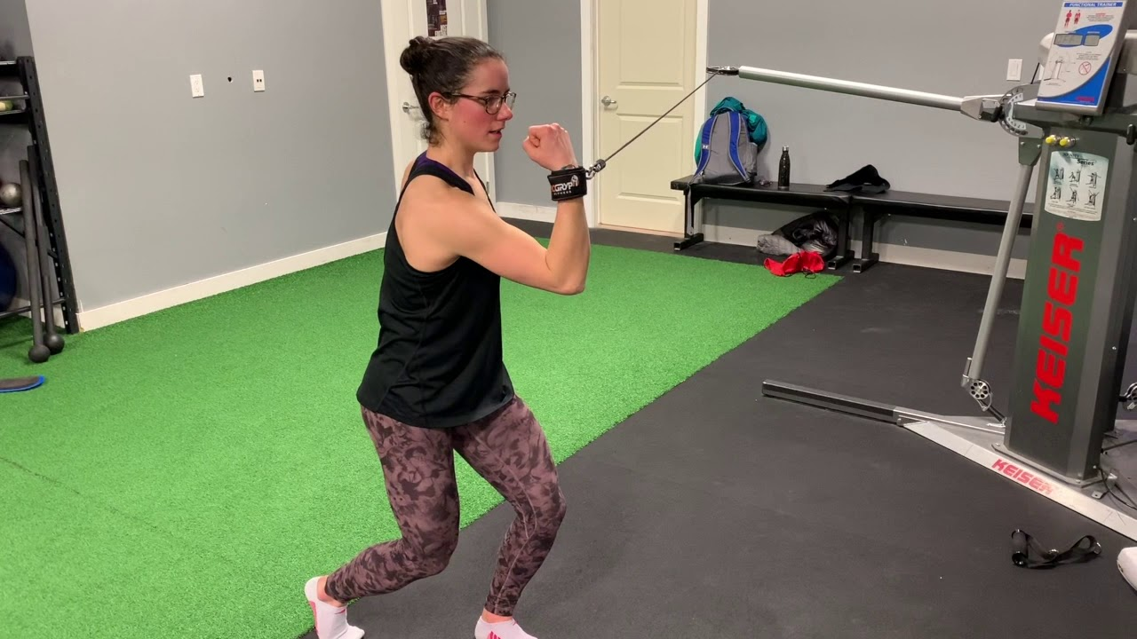 Exercise of the week: Staggered Stance Shoulder External Rotation