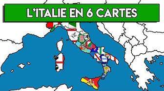 6 CARTES SUR L'ITALIE