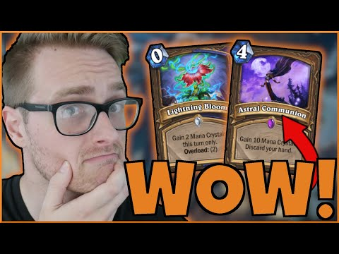 TURN 1 Astral Communion? WHAT Could Go WRONG? (BIG Druid)   Scholomance Academy   Wild Hearthstone