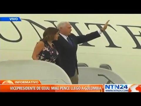 Vicepresidente de EE. UU., Mike Pence inicia en Colombia su primera giral por Latinoamérica