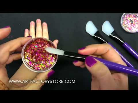 How To Apply Festival Glitter Over Face Paint