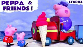 peppa pig play doh ice cream toys and surprise eggs   thomas and friends family fun with sofia