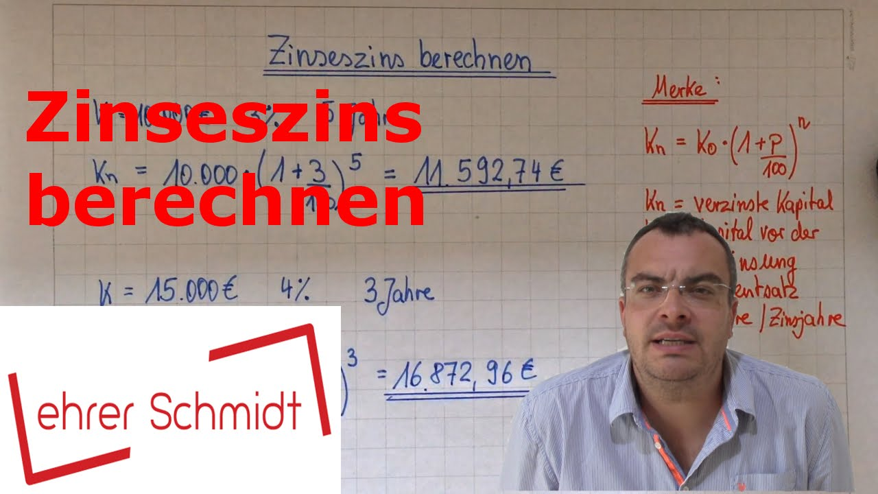 zinseszins berechnen zinsrechnung mathematik youtube. Black Bedroom Furniture Sets. Home Design Ideas