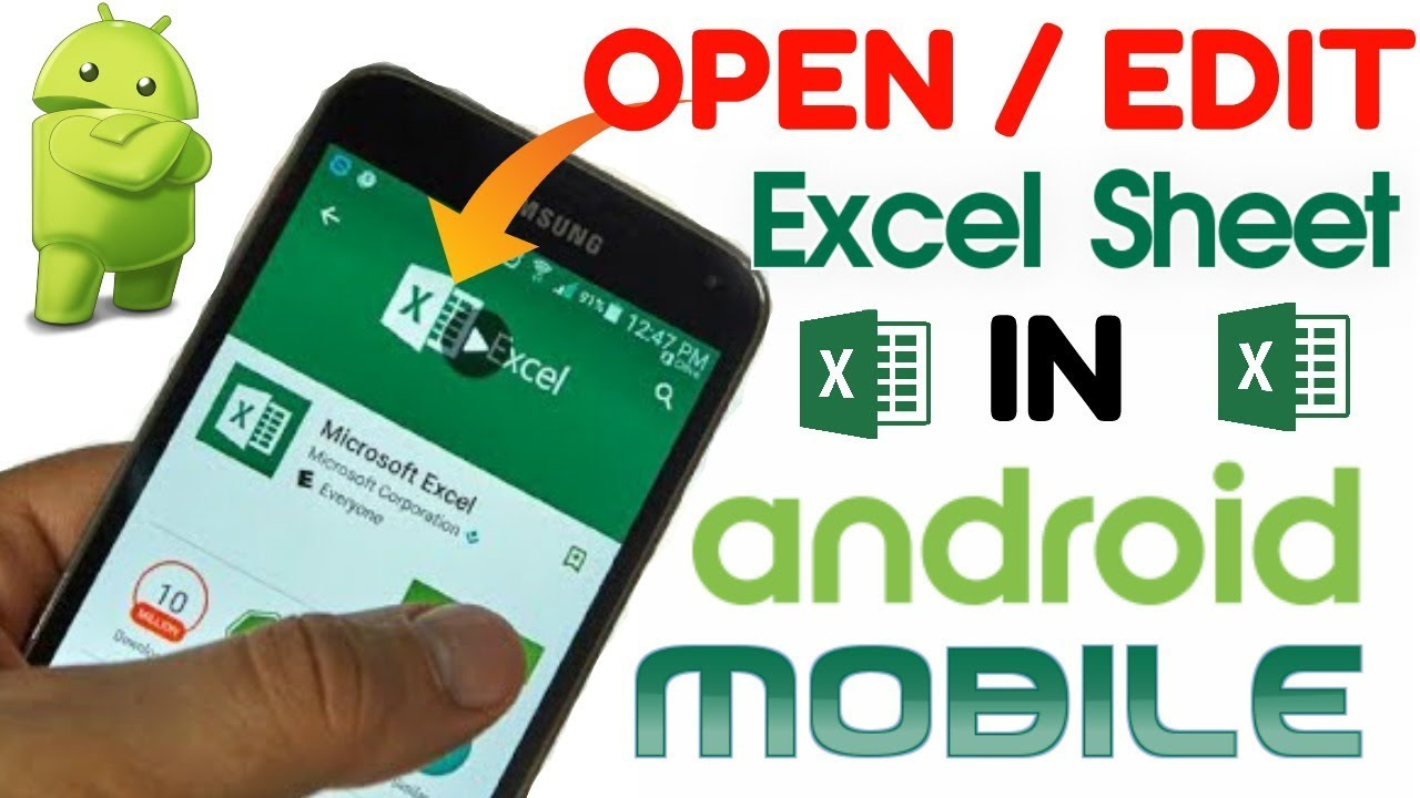android excel cannot open file